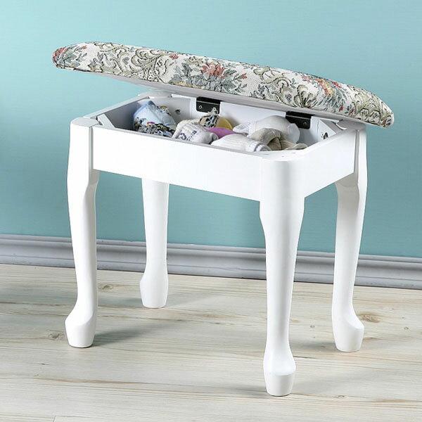 化妝椅  收納椅  掀蓋化妝椅  椅子  矮凳~Yostyle~典雅歐風掀蓋化妝椅 二色