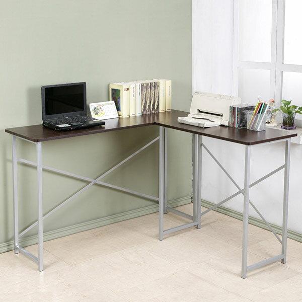 YoStyle 超值小巧L型工作桌-深40cm(胡桃色) 書桌 電腦桌 辦公桌 事務桌