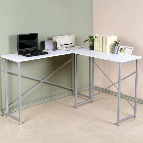YoStyle 超值小巧L型工作桌-深40cm(純白色) 書桌 電腦桌 辦公桌 事務桌