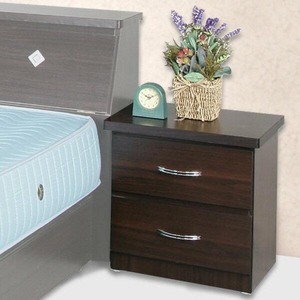床頭櫃 床邊櫃 床邊收納 二抽櫃 收納櫃 抽屜櫃 置物櫃 櫥櫃 《YoStyle》艾莉二抽床頭櫃(胡桃木紋)