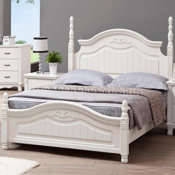 Yostyle 琳達床架組-雙人5尺-公主風 歐風 房間組 套房  雙人床