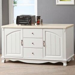 餐櫃/收納櫃/碗盤櫃/置物櫃/廚房收納/櫥櫃【Yostyle】琳達5尺石面餐櫃
