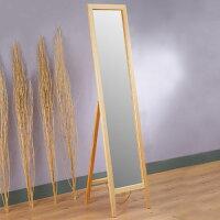 全身鏡/立鏡/穿衣鏡/連身鏡/鏡子【Yostyle】/自然原味松木穿衣鏡/(原木色) 0