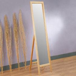 全身鏡/立鏡/穿衣鏡/連身鏡/鏡子【Yostyle】/自然原味松木穿衣鏡/(原木色)