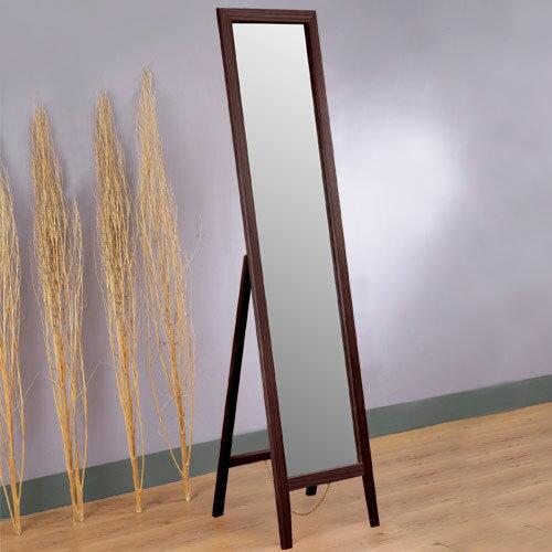穿衣鏡 全身鏡 立鏡 連身鏡 鏡子《Yostyle》 松木穿衣鏡(胡桃色)