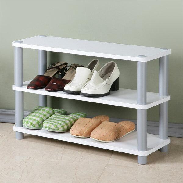 鞋架 開放式鞋架 鞋櫃 收納架 置物架 簡易鞋架 系統架《Yostyle》簡約三層開放式鞋架(純白色)