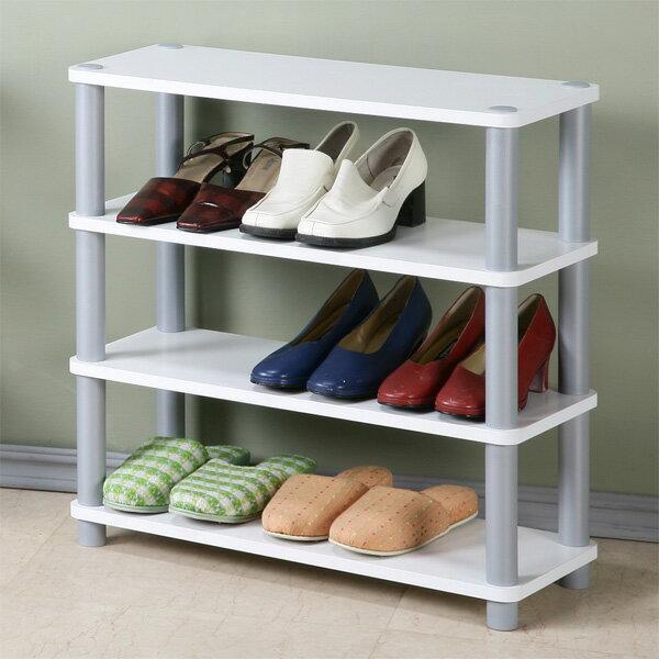 鞋架 開放式鞋架 鞋櫃 收納架 置物架 簡易鞋架 系統架《Yostyle》簡約四層開放式鞋架(純白色)