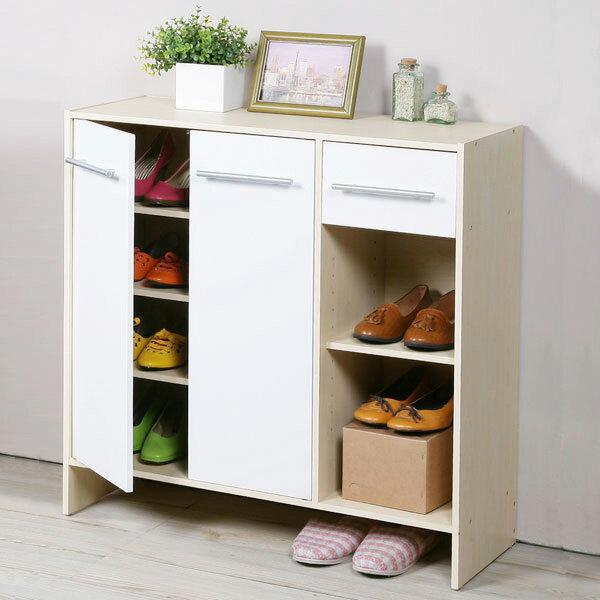 鞋櫃 有門鞋櫃 置物櫃 收納櫃 玄關櫃《YoStyle》日式二門一抽鞋櫃-楓木