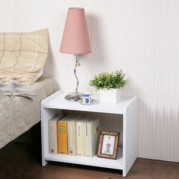 床頭櫃 床邊櫃 收納櫃 空櫃 雜誌櫃 置物櫃 書櫃《YoStyle》時尚開放式床邊櫃(二色)