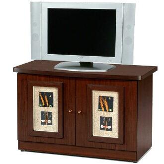 Yostyle 自然風味雙門電視櫃(胡桃木紋) 展示櫃 視聽櫃 收納櫃