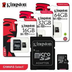 金士頓 Kingston CANVAS Select microSDHC/XC C10 最新版 記憶卡 80MB/s