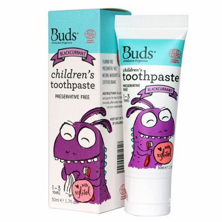 【悅兒園婦幼生活館】Buds 芽芽有機 木醣醇牙膏-黑加侖50ml (1-3歲)