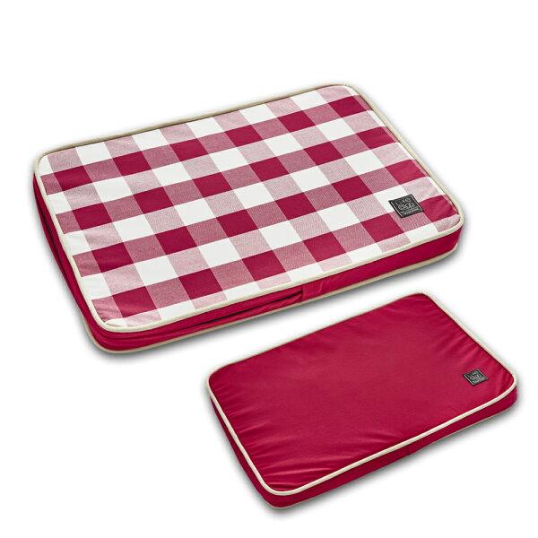 Lifeapp:《Lifeapp》寵物緩壓睡墊S(紅白格)W65xD45xH5cm