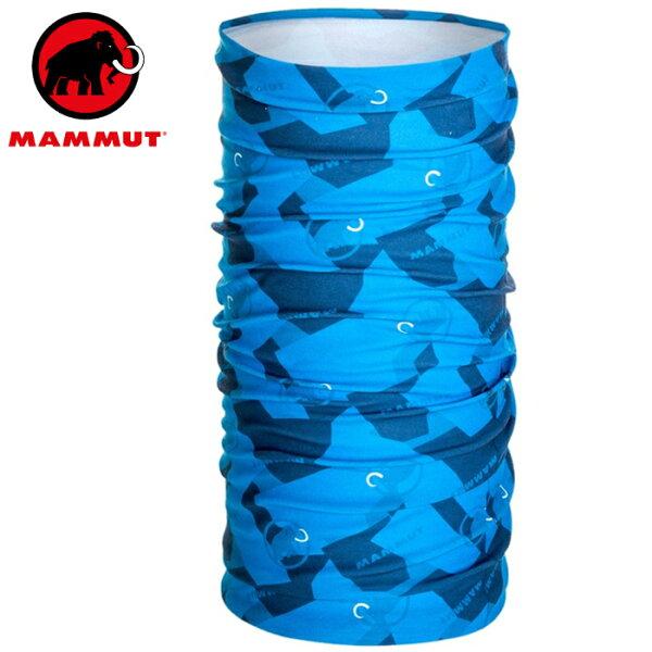 Mammut長毛象透氣排汗頭巾登山單車運動頭巾1191-0581150007帝國藍藍