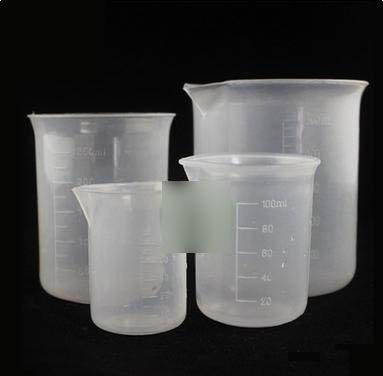 【塑膠燒杯-直徑75mm-3個/組】園藝用品塑膠燒杯50ml 100ml 250ml 500ml PP材質實驗器材-5170701