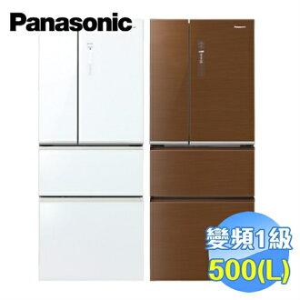 國際 Panasonic 500公升ECONAVI四門玻璃變頻冰箱 NR-D508NHGS