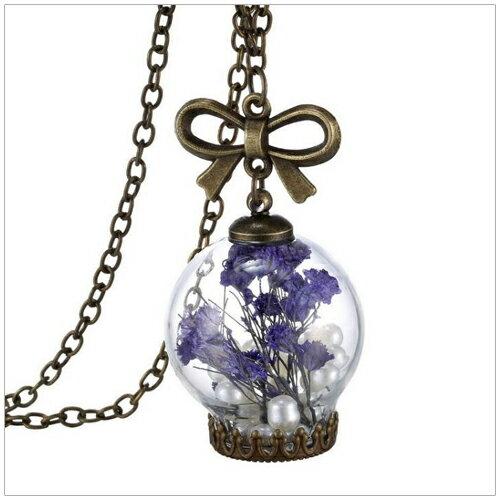 美麗新晴~SE1672~紫色秘密花園珍珠項鍊 現 預 ~  好康折扣