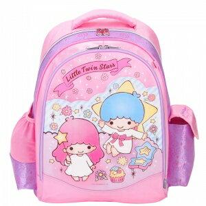 X射線【C948633】雙子星護脊書包L(星星緞帶.粉色),開學必備/兒童書包/雙肩包/手提包/卡通/後背包/kikilala