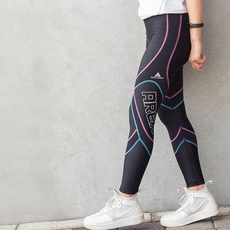 【台灣製-強效專業款】AREX SPORT 女款萊卡經典強力包覆壓縮褲-二代  壓力褲 內搭褲 束褲 緊身褲 XS-XL 5