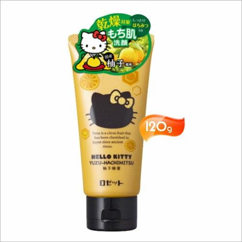 <br/><br/>  日本ROSETTE Kitty柚子蜂蜜洗顏膏-120g [55367]<br/><br/>