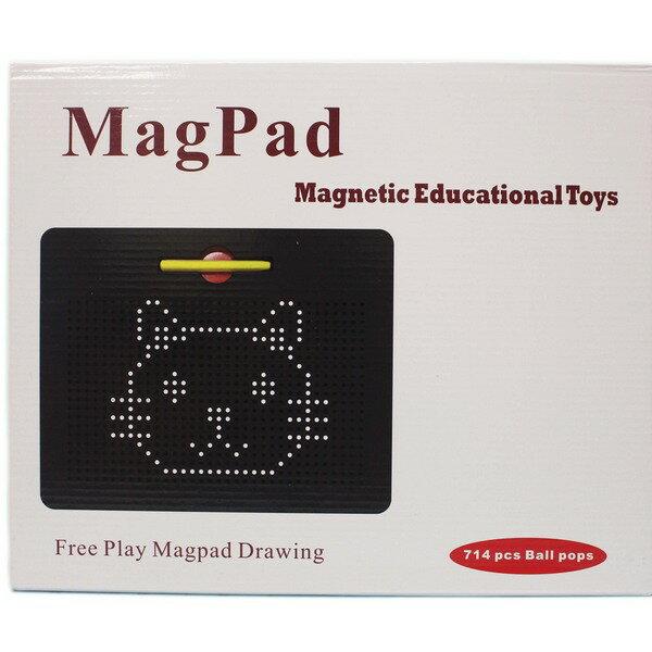 鋼珠磁力畫板 兒童磁性鋼珠寫字板+10張引導板(盒裝)/一個入{促650} 磁性塑料畫板