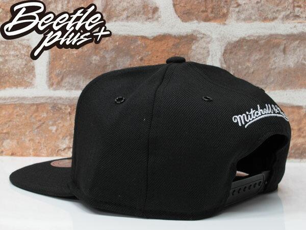 BEETLE MITCHELL&NESS NBA WARRIORS 金州 勇士 CURRY 黑白 SNAPBACK 帽 1