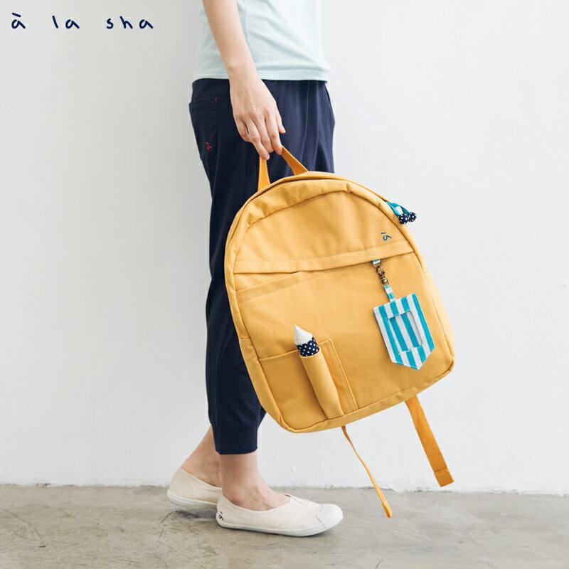 a la sha 鉛筆造型帆布後背包 1