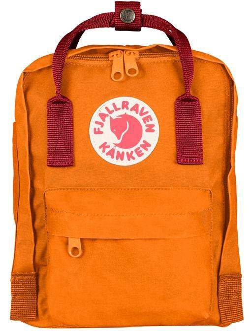 Fjallraven 瑞典北極狐 Kanken Mini 迷你瑞典書包/空肯包/方型後背包 23561 215-325 焦橘/深紅