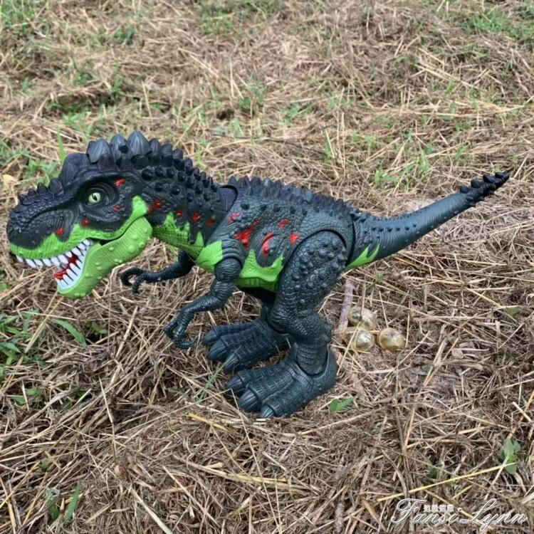 會發光發聲會叫男孩仿真暴龍恐龍玩具電動恐龍玩具會走路的霸王龍 秋冬新品特惠