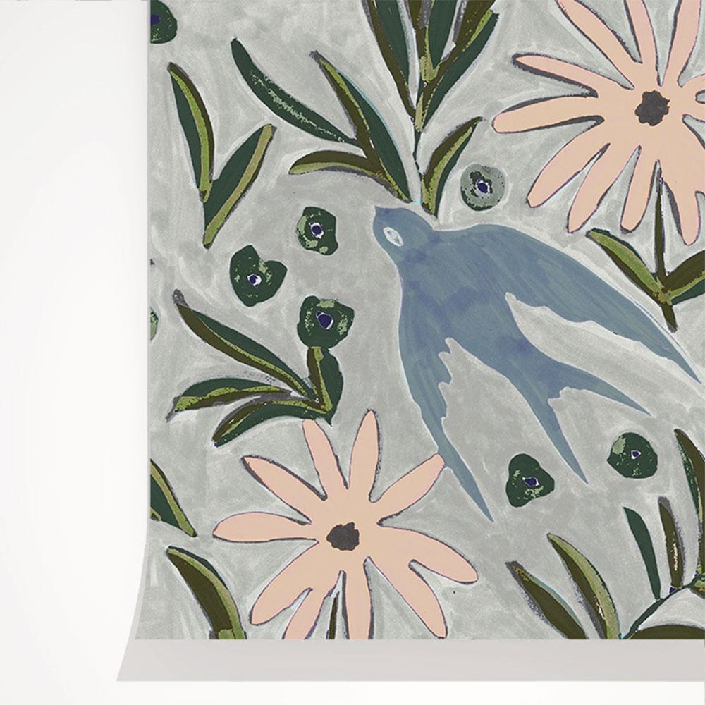 法國壁紙 燕子圖案  2色可選  Season Paper 壁紙 1