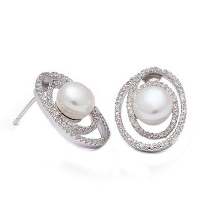 925純銀耳環鑲鑽耳飾~高貴大方氣質優雅母親節生日情人節 女飾品73dm226~ ~~米蘭