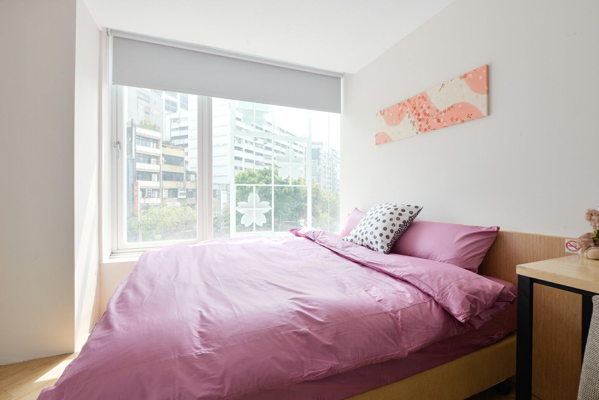 素色床包 精梳棉紫色床包組 單人 雙人 雙人加大 提朵拉生活館 台灣製造 大鐘染印布料