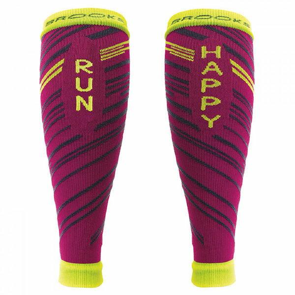 BROOKS運動彈性壓縮小腿套(紅)壓力小腿套BK741545663【胖媛的店】