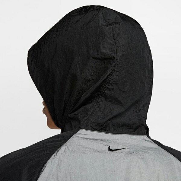 【NIKE】M NSW SWOOSH JKT HD WVN 男裝 連帽 休閒 雙勾 黑 外套 -CJ4889011 4