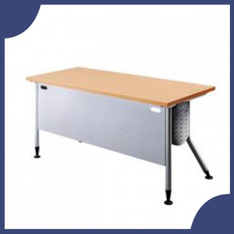 『商款熱銷款』【辦公家具】KRS-166WH 銀桌腳+白櫸木桌板 辦公桌 書桌 桌子