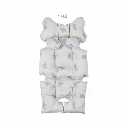 韓國Aribebe 結合頸枕 推車襯墊 3D雙面全身包覆墊(厚)一般棉-小象款★愛兒麗婦幼用品★