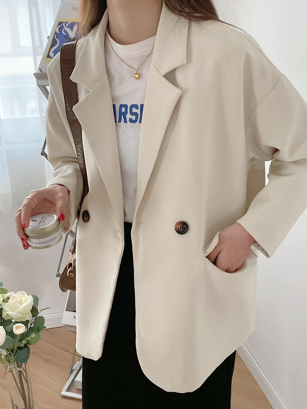 西服外套女復古寬鬆設計感女裝2021新款春季時尚休閒小西裝