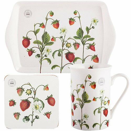 《CreativeTops》Kew馬克杯午茶3件組(草莓莊園350ml)