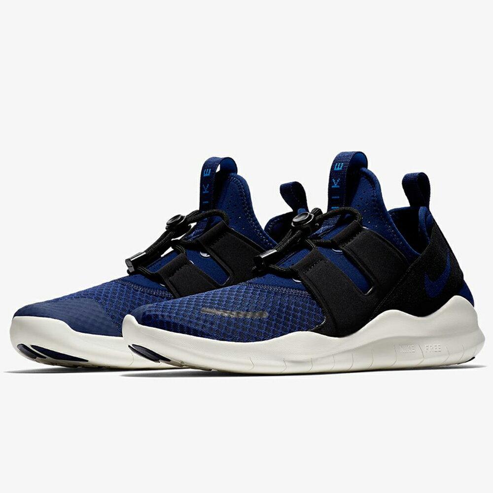 Nike Free RN Commuter 男鞋 慢跑 休閒 赤足 輕量 透氣 深藍 ~