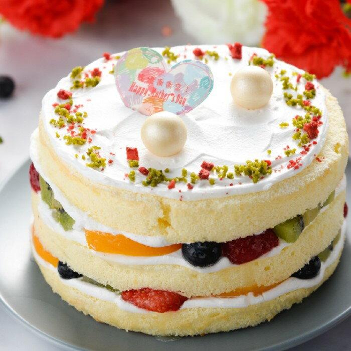 ~~免運~~父親節限定買一送一//水果生乳百滙蛋糕(6吋)送6吋岩燒蜂蜜起士蛋糕///限量30顆