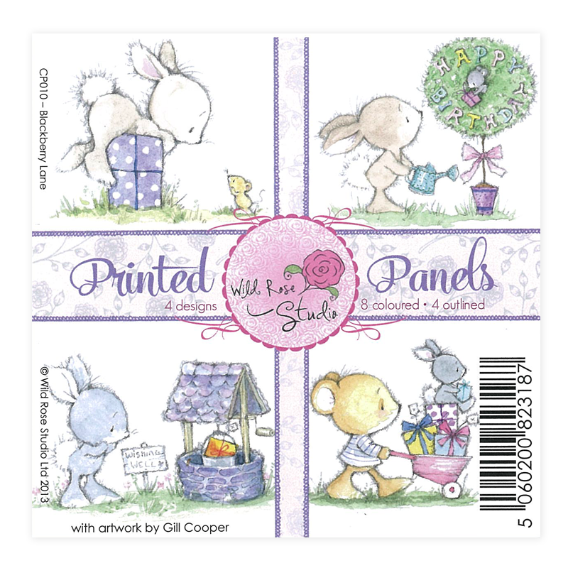 CP010印刷卡紙-淘氣兔10.5*10.5cm(4款)