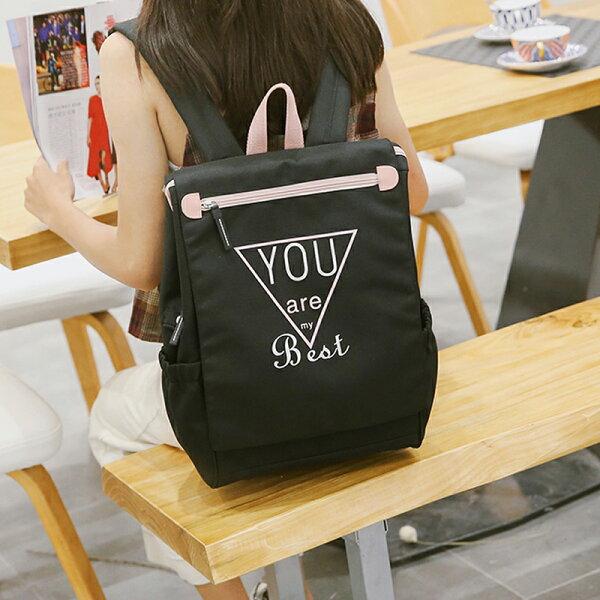 學院風簡約百搭背包後背包書包旅行包