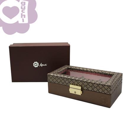 【Aguchi 亞古奇】編織公主-耀眼棕 珠寶盒(編織精靈系列) 2