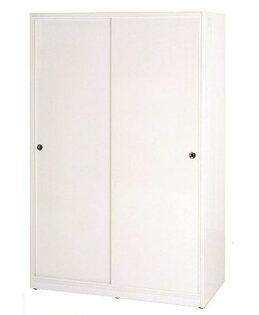 【石川家居】834-02白色拉門衣櫥(CT-116)#訂製預購款式#環保塑鋼P無毒防霉易清潔