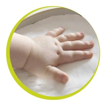 【紫貝殼】比利時【Baby Art】方形魔術紀念盒 手腳印方盒(白色) 1