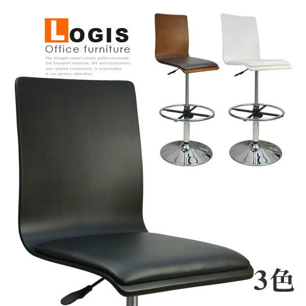 LOGIS邏爵~炫感高背曲木高腳皮革事務椅電腦椅吧台椅*020B0X*