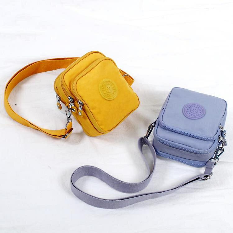 迷你包 手機包女斜背迷你小包包零錢包放手機袋子鑰匙包牛津帆布散步小包yh
