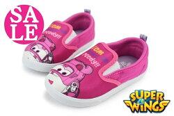 超級飛俠 蒂蒂 女童休閒鞋 台灣製 鬆緊帶懶人便鞋 零碼出清 J7570#粉紅◆OSOME奧森鞋業