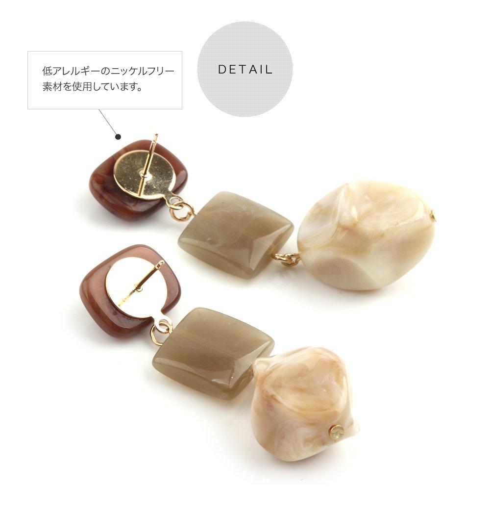日本CREAM DOT  /  復古天然石穿孔耳環  /  qc0471  /  日本必買 日本樂天直送(1490) 4