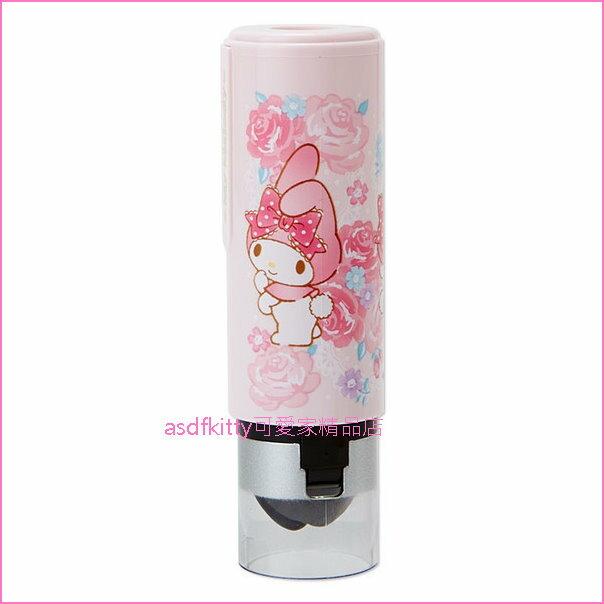 asdfkitty可愛家☆獨家搭配 美樂蒂粉玫瑰印章盒+印章體-不含刻字-日本製